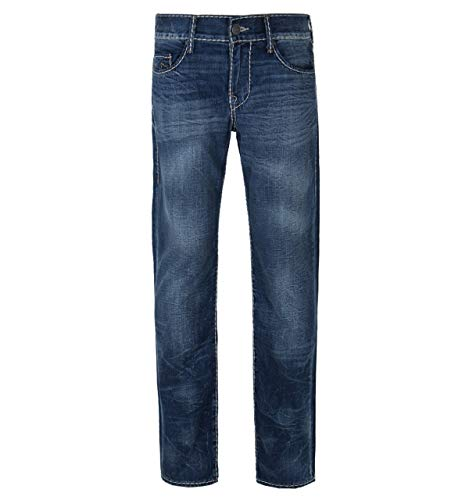 Button-fly Flap Pocket Jeans (True Religion Blue Trance Geno On Flap Cable Stitch Slim Fit Jeans-36 Waist / 34