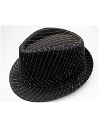 a914b6a2918 Chapeaux Enfant Enfants rayures jazz chapeau enfants chapeau melon  protection solaire chapeau pare-soleil pour