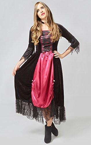 Scarlet Vampira Kostüm (FXSTUFF Halloween Vampir Kostüm Damen,