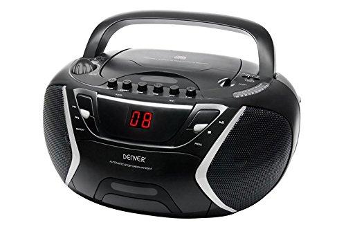 Denver TCP-38 Boombox Radio, CD/Kasettenspieler schwarz