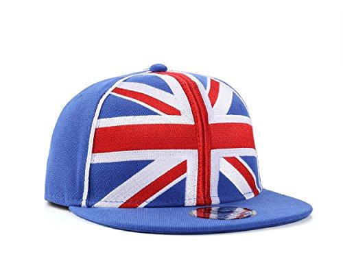 Union Jack / Großbritannien Blau Snapback Baseballkappe (Great Britain) -