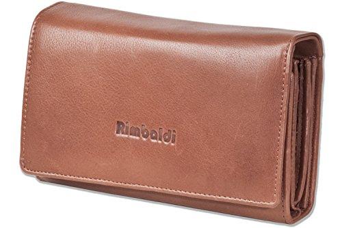 Rimbaldi®-Portafoglio da donna estremamente spazioso, in pelle bovina naturale, marrone (Marrone) - 2051607