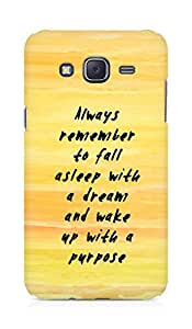 AMEZ always remember to fall asleep with a dream Back Cover For Samsung Galaxy J5