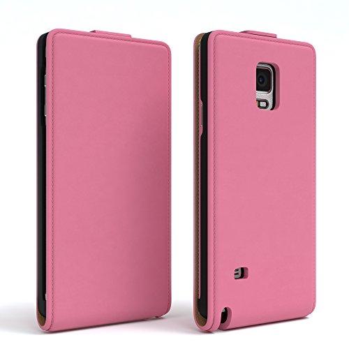Samsung Galaxy Note 4 Hülle - EAZY CASE Premium Flip Case Handyhülle - Schutzhülle aus Leder zum Aufklappen in Rosa Rosa