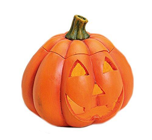(Davartis - Großer Kürbis Windlicht aus Keramik - Dekoration Halloween, Herbst - Türkürbis)