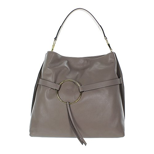 Gianni CHIARINI Circle Hobo Bag Beige 37 cm
