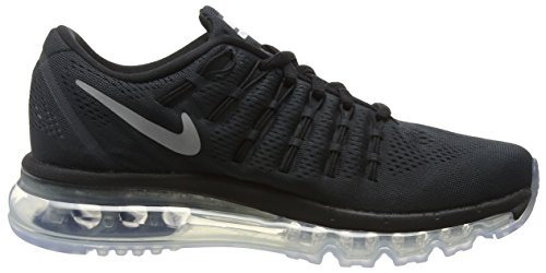 Nike Air Max 2016 (GS), Baskets Basses Mixte Enfant Noir - Schwarz (001 BLACK/REFLECT SILVER)
