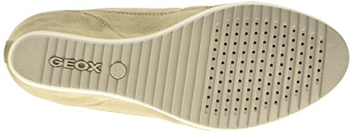 Geox D Illusion A, Scarpe Low-Top Donna Beige (Lt Taupe/Gold)