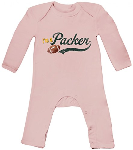 I'm a Packer #1 Babybody | American Football Babybody | Super Bowl | NFL, Farbe:Babyrosa (Powder Pink BZ13);Größe:3-6 Monate -