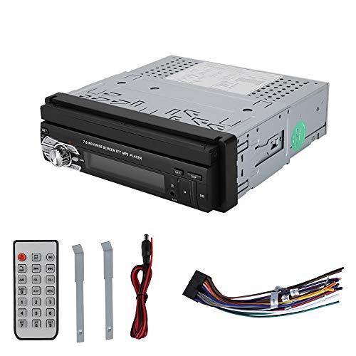 ASHATA Autoradio Bluetooth,Einziehbar 7 Zoll Touchscreen Auto MP5 Player Drahtloser Multimedia Videoplayer,Tragbar Bluetooth MP3/MP4/Audio/Video Car MP5 Player,Unterstützt TF-Karte/AUX/U-Disk/USB