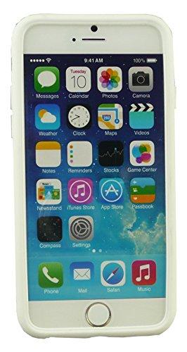 """Emartbuy® Eingabestift Pack Für Apple Iphone 6 6G 6S 4.7 """" Zoll LCD Displayschutz + Metallic Mini Rot Eingabestift + Glänzend Gel Hülle Schutzhülle Case Cover Rot Orange Silikon"""