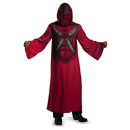 Disguise 74298K Devil Hooded Print Robe - Child Costume, Medium (7-8) by Disguise