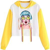 Damen Sweatshirt,Geili Mode Frauen Langarm Sweatshirt Damen Mädchen Persönlichkeit Gedruckt Patchwork Hoodie Kausalen... preisvergleich bei billige-tabletten.eu
