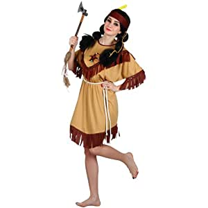 Native Indian - Adult Ladies Costume Lady: SMALL