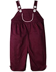 FEOYA - Mono Pantalones de peto Infantil para Bebés Niñas 6-9 meses 9-12 meses 1 2 años - Púrpura Oscura