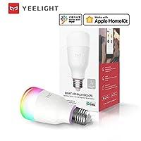 Yeelight Smart LED Bulb 1S Color Version YLDP13YL 8.5W RGB Light Desk Floor Table Lamp Support APP Control Light Work With APP Homekit AC220V-240V 1700K-6500K E26 E27 800lm