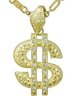 Dollar Symbol an Kette, gold