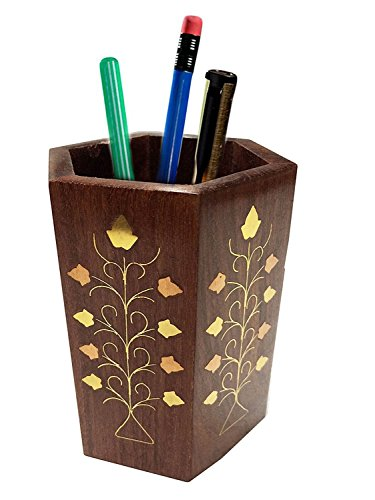 xmas present, Wooden Pen Stand, Perfect for Office & Home Desk to Organize your pens, pencil,etc,