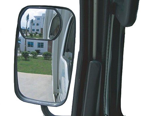 Meipro Truck Blind Spot Spiegel,HD konvexen Weitwinkel Rückspiegel Rückspiegel für jeden LKW und Bus Fit Stick auf Objektiv (2er Pack)