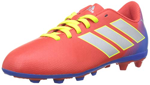 Adidas Nemeziz Messi 18.4 FxG J, Zapatillas de Fútbol para Niños, Rojo Active Red/Silver Met./Football Blue, 38 EU