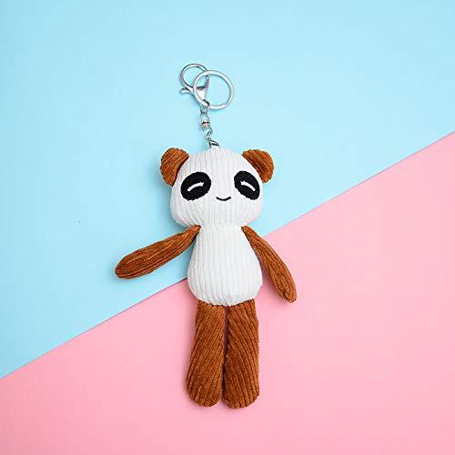 yfkjh Süße Panda, Plüsch Anhänger Puppe, Tasche hängentasche, Auto Schlüsselanhänger 17 cm Brauner langbeiniger Panda