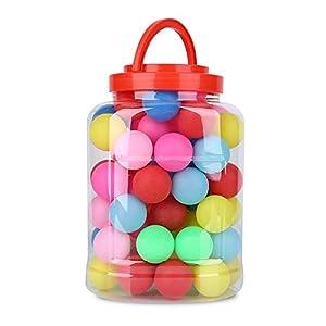 Alomejor 60 Stück Tischtennisbälle Spaß Bälle 40mm Farbige Ping Pong Bälle Plastikspielzeug Tischtennisbälle Lotterie…