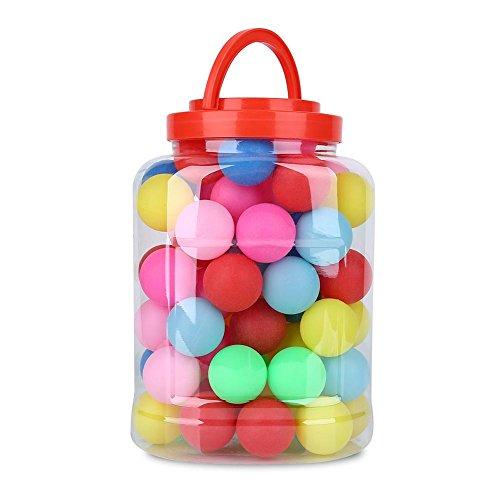 Tischtennisbälle Farbig Ping Pong Bälle, 60pcs Kunststoff Mehrere Farben Ping Pong Bälle Farbige Farbe Pops Spielzeit Unterhaltung Gaming Lotterie Dekorative Bälle Spaß Bälle für Erwachsene Kinder