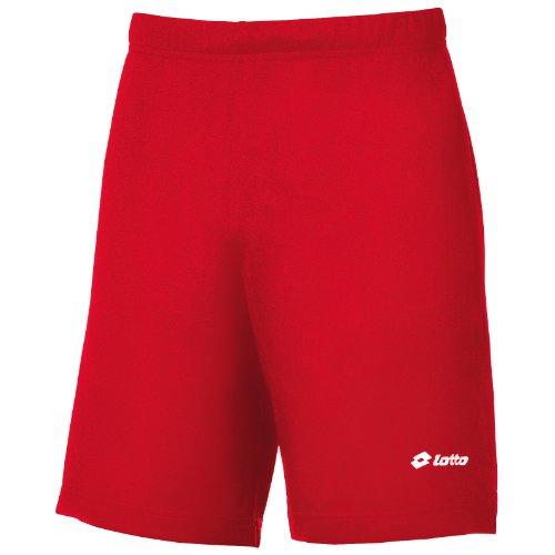 Lotto - Omega - Pantaloncini da Calcio - Uomo Rosso Fiamma