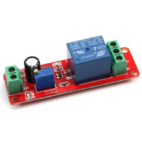 Generic NE555 - Modulo interruttore timer ritardo, regolabile, DC 12 V, 0 a 10 secondi (NE555)