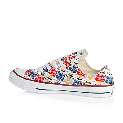 Converse All Star Lo X Andy Warhol Herren Sneaker Marcire Rot
