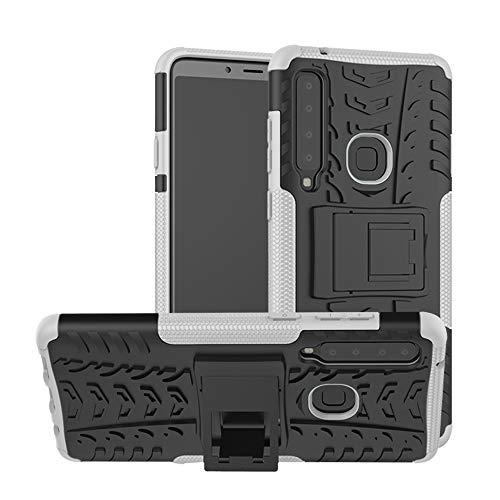 KISCO für Samsung Galaxy A9 2018/A9 Star Pro/A9S Hülle,Stoßfest Hybrid PC und TPU Cover mit Kickstand Tablet Cover Schutzhülle für Samsung Galaxy A9 2018/A9 Star Pro/A9S-Weiß