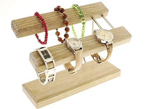 Uhrenhalter Armbandhalter Schmuckhalter Schmuckständer Handarbeit Eiche weiß geölt. -