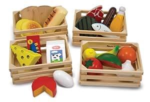Melissa and Doug Giochi di legno Set cibo in legno