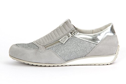 Gabor Comfort, Sneakers Basses Femme Argent (a silber/lgrey/arg. 42)