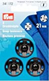 Prym Druckknöpfe zum Aufnähen, 21mm, Messing, 3Stück, Schwarz