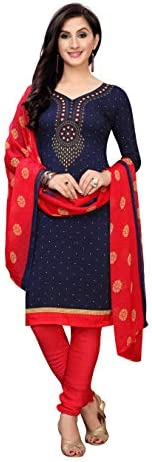Oomph! Women's Unstitched Georgette Salwar Suit Dupatta Mate