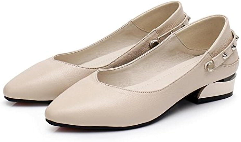 QIDI Zapatos Casuales Mujer Transpirable PU De Moda Fondo Plano Zapatos De Cuero (Color : T-1, Tamaño : EU38/UK5.5)
