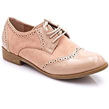 171cfc2ff7f97 Fashion Shoes Derbies Femmes en Lacet Bi-Maitère - Chaussures Dames Talon  Bloc Bas –