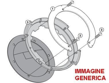 Imagen de givi bf12 fijación lock  de depósito solo para tapa depósito con 7 tornillos