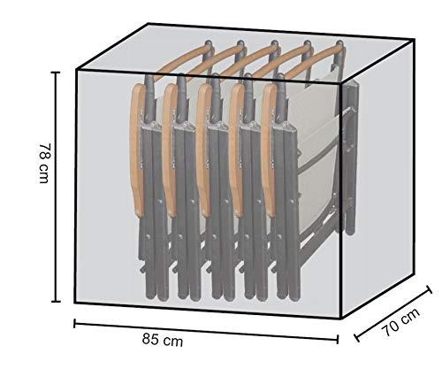 GRASEKAMP Qualität seit 1972 Stuhlhülle Schutzhaube Plane für 4-6 Klappstühle