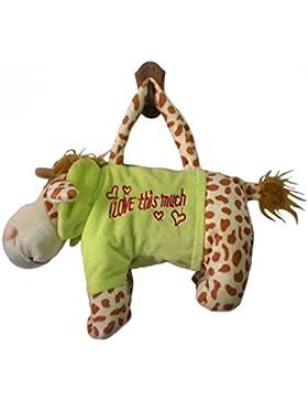 JTC Kinder Plüsch Handtasche Süße Tierstil Tasche Weiche Schultertasche