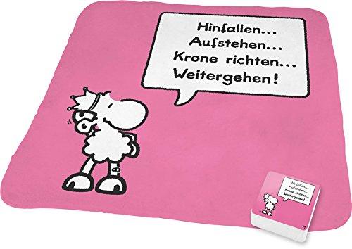 """Sheepworld 59377 Magic Towel """"Hinfallen...Aufstehen...Krone richten...Weitergehen!"""""""