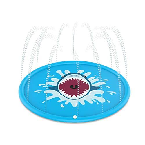 LOVEQIZI Splash Pad, 170cm Durchmesser Outdoor Sprinkle Planschbecken und Splash Spielmatte Perfect Summer Backyard Fun Wasserspielzeug für Kinder Kleinkinder Kleinkinder, Jungen, Mädchen und Kinder