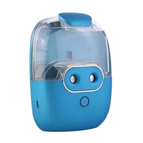 OULYO- Kühlen Nebel Mini Auto Luftbefeuchter Ultraschall Aromatherapie Ätherisches Öl Diffusor Stumm Spray Home Schlafzimmer Desktop Schönheit Feuchtigkeits Instrument (Color : Blau) -