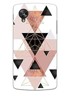 Nexus 5 Cases & Covers - Triangular Geometry - Pattern - Hard Shell Back Case
