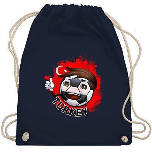 Navy Fußball-maskottchen (Fußball - Fußballjunge Türkei - Unisize - Navy Blau - WM110 - Turnbeutel & Gym Bag)