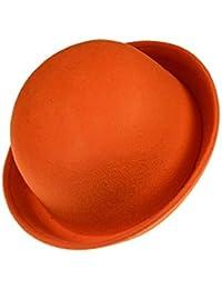 Chapeau - TOOGOO(R)Feutres vintage a la mode pour homme femme Chapeau de dome de brim roule Chapeau de derby unisexe Orange
