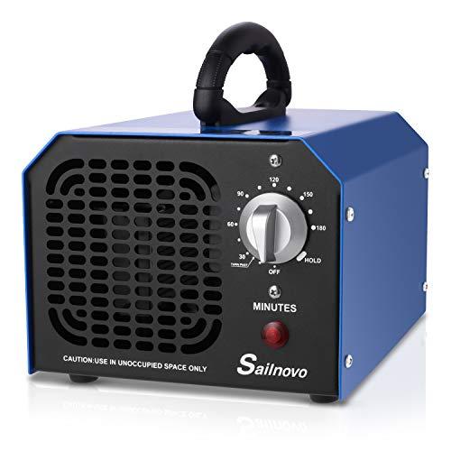 Ozongenerator Geruchskiller, Sailnovo 6,000mg/Std Ozon Desinfektion Sterilisator Ozongerät mit 3 Std Timer & HOLD, Ozon Reiniger luftreiniger lufterfrischer ozonator für Zimmer/Auto/Haustiere