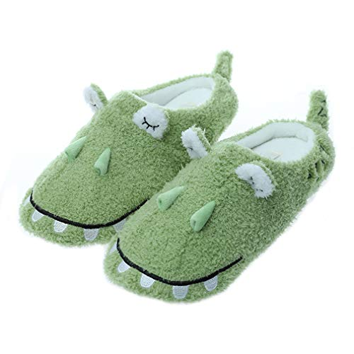 Millffy cute whale plush slippers Japanese girl plush shark soft bottom indoor home flat floor shoes