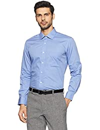 Arrow Men's Solid Regular Fit Cotton Formal Shirt